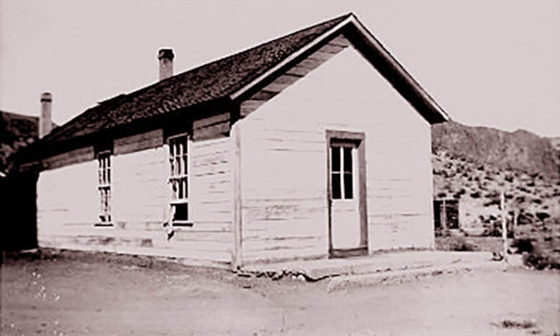 A multi-purpose building in 1920s Palisade, Nevada was the jail, schoolhouse, courthouse and morgue
