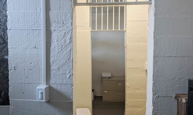 Parts of original 1932 jail cells still in place at former City Hall, now office space in Tehachapi, California